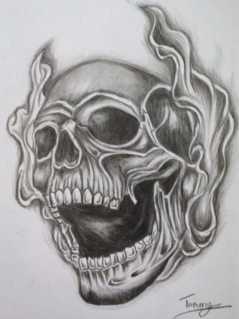smoke skull tattoo by tommyyu on DeviantArt