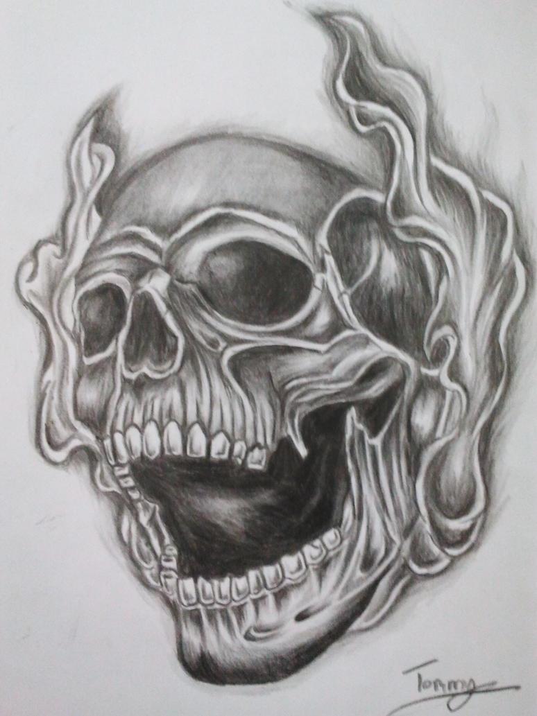 smoke skull tattoo by tommyyu on DeviantArt