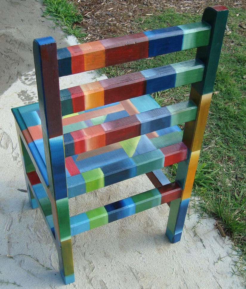 Superbe Painted Chair: Rear View By TatumDesign ...