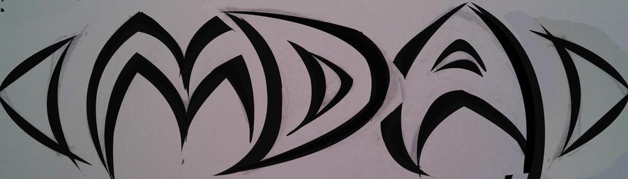 Tattoo initials rough draft 2 by =TatumDesign on deviantART