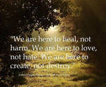 We are here to love