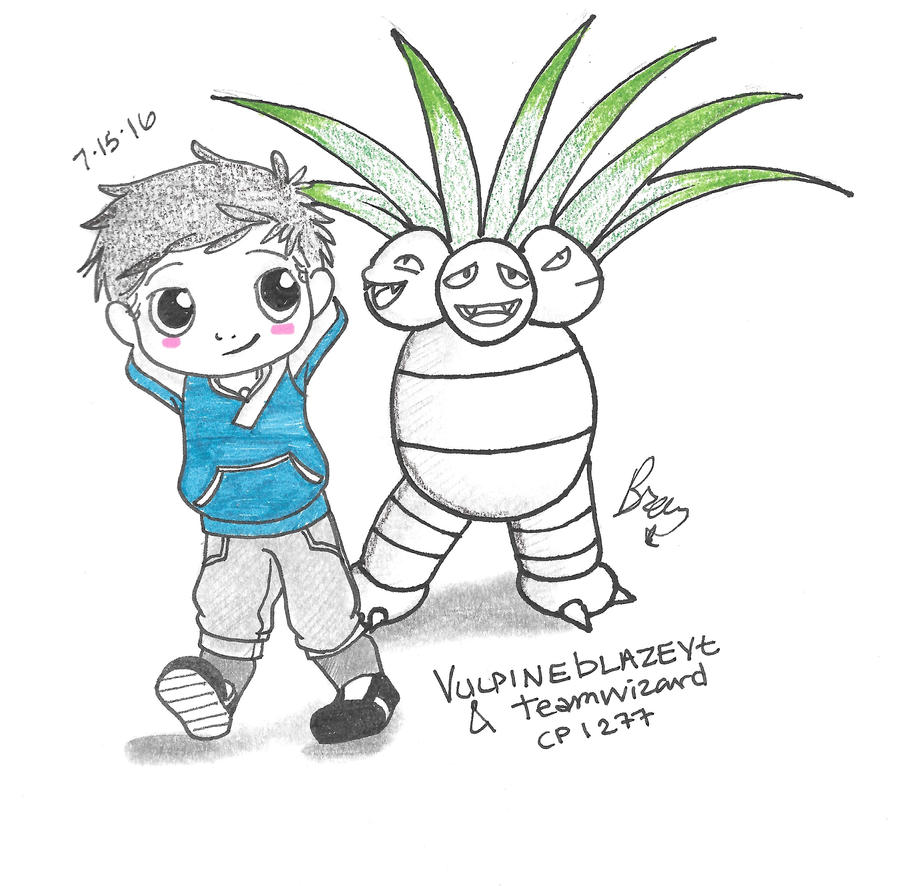 Johnathan and his Exeggutor by DarkWaterz