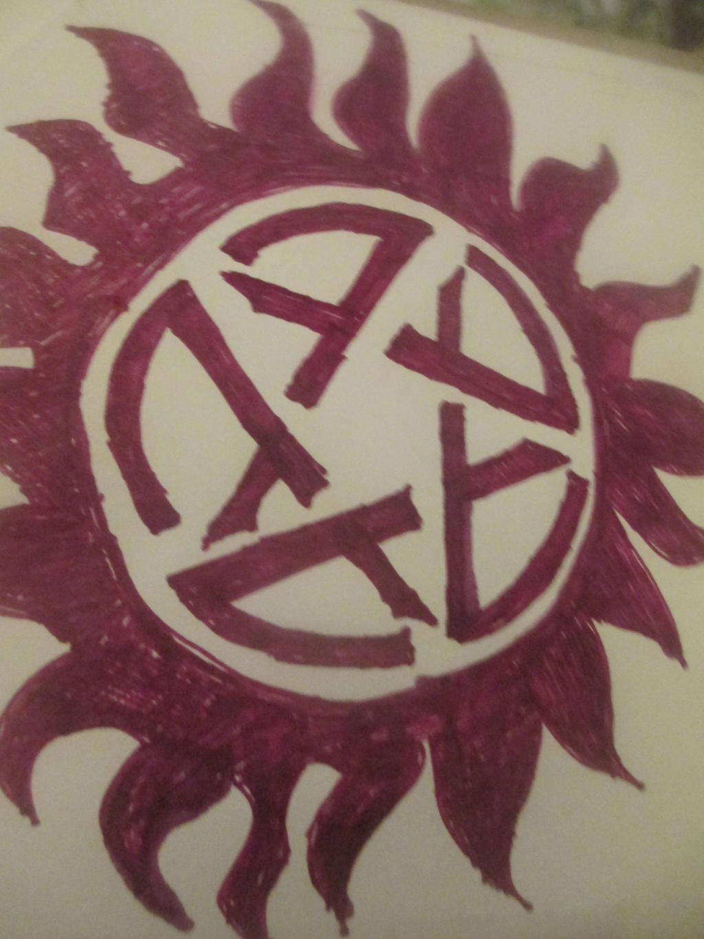 Supernatural Anti Demon Possession Symbol By Adrianknight On Deviantart
