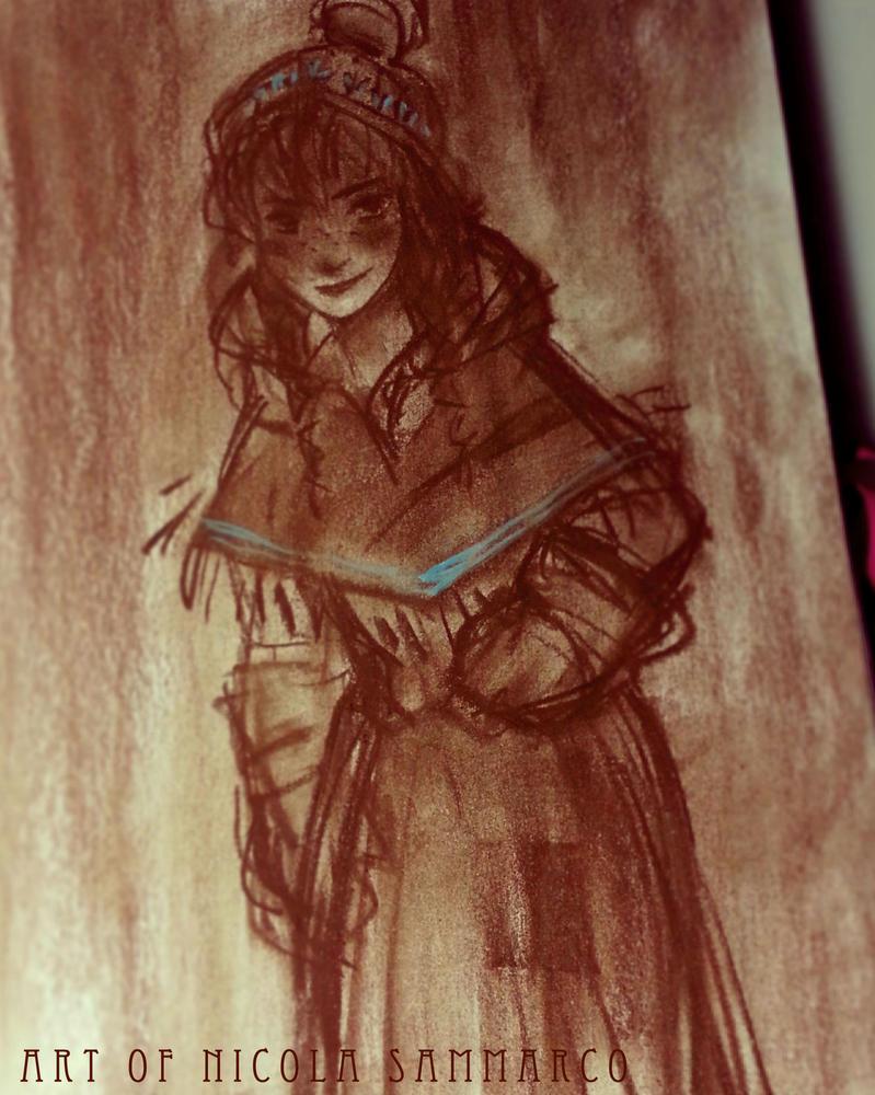 Anna by Frozen - pastel by nicolasammarco
