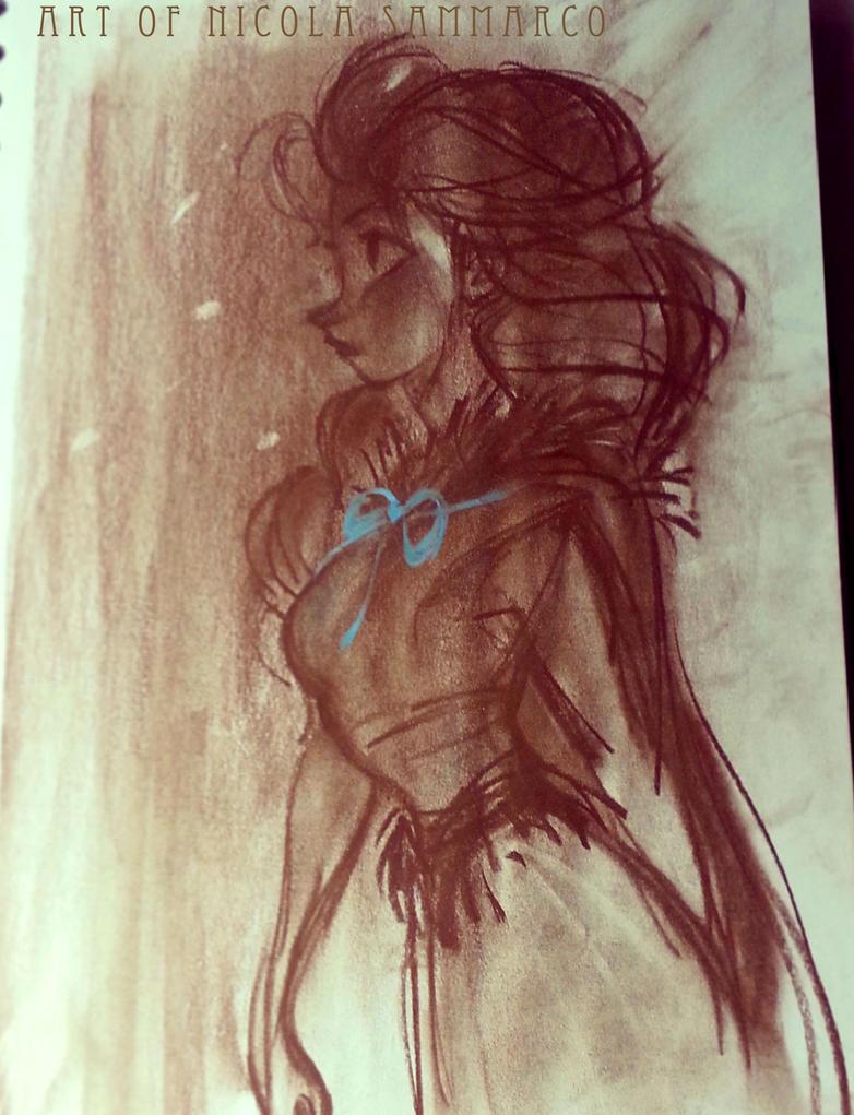 Elsa concept - pastel by nicolasammarco