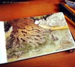 Sketch + watercolor #centaras