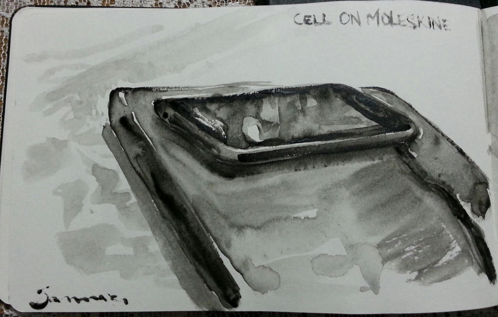 Cell on moleskine #watercolor by nicolasammarco
