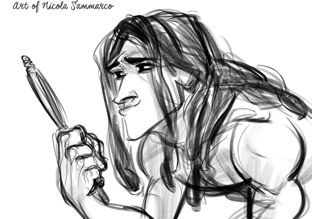 Tarzan (smolder) by nicolasammarco