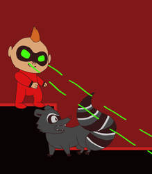 Jack jack with racoon by gamingcraftergirl28