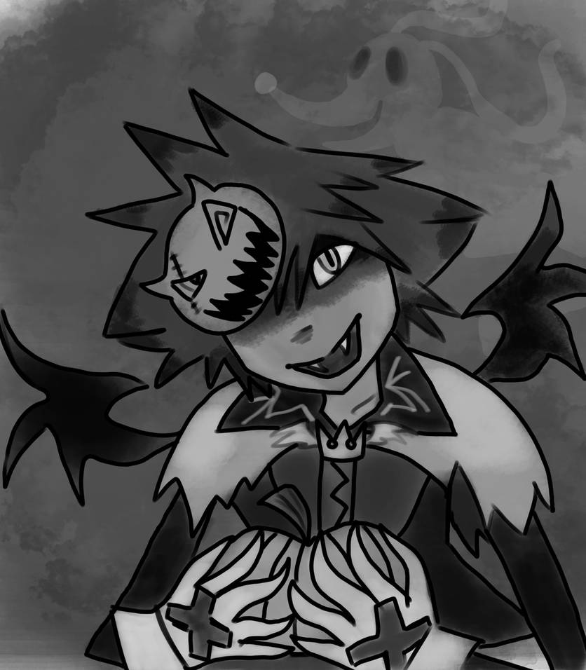 Halloween sora and Zero by gamingcraftergirl28
