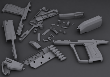 Halo Reach M6B - 3D Print Model