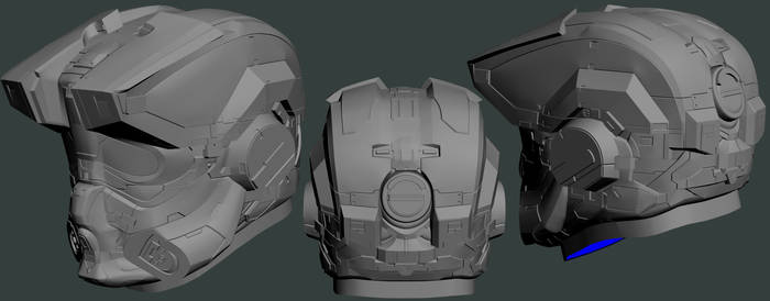 Solid High Poly Halo 4 HAZOP Helmet