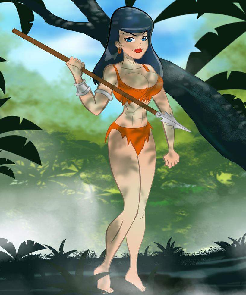cartoon girl Erotic jungle