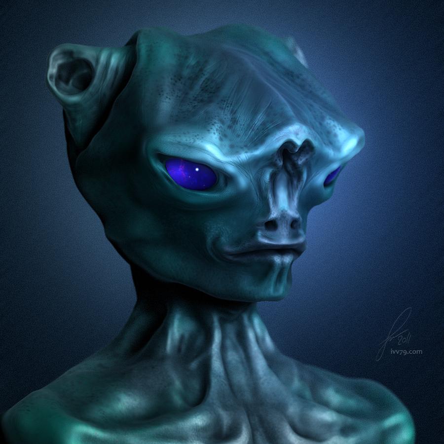Portrait of an Alien by IVV79