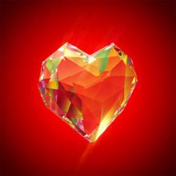 Polygonal Crystal Heart