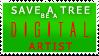 Green Artist Stamp by Jet-Plasma