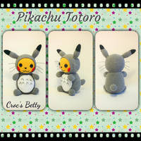 Pikachu Totoro (inspired) by Crocsbetty