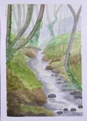 Stream in forest by gardoll