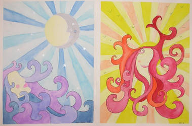 Moon and Sun Godess by gardoll
