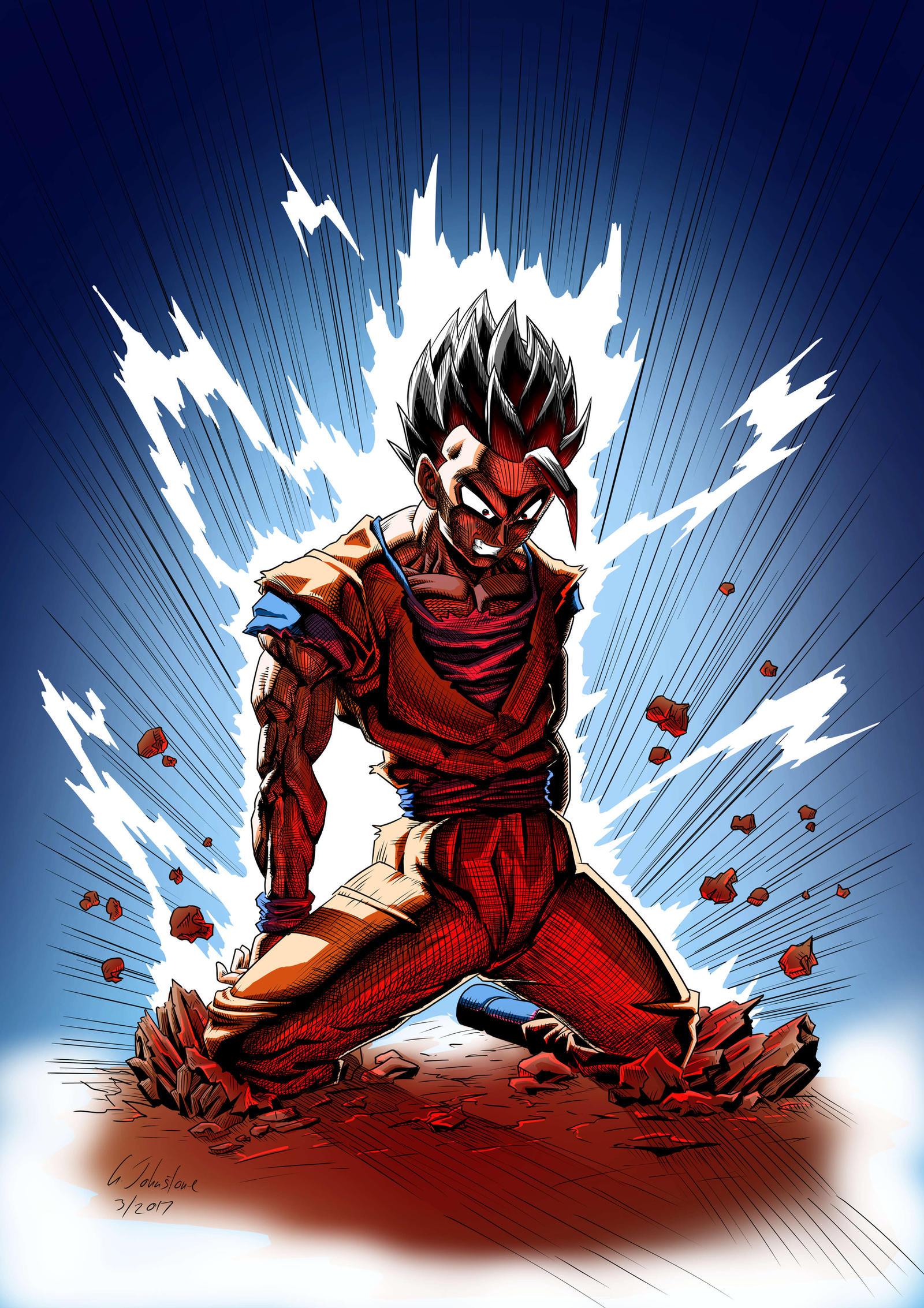 Gohan's Despair - Coloured by JustGeoffsArt