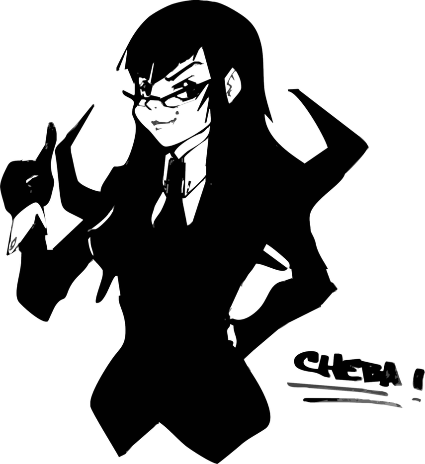 Black gothic vector by Cheba-Chan