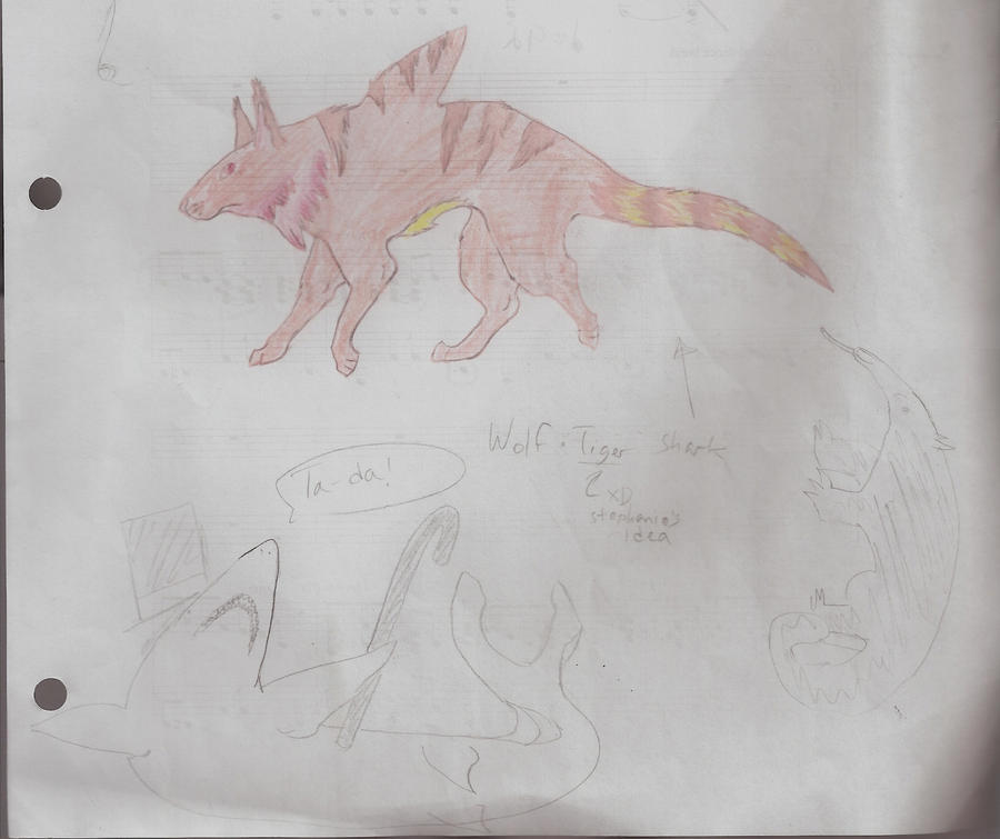 Shark hybrid drawing - photo#39