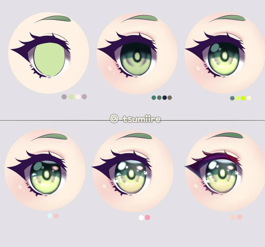 Eye Coloring Tutorial by tsumiire on DeviantArt