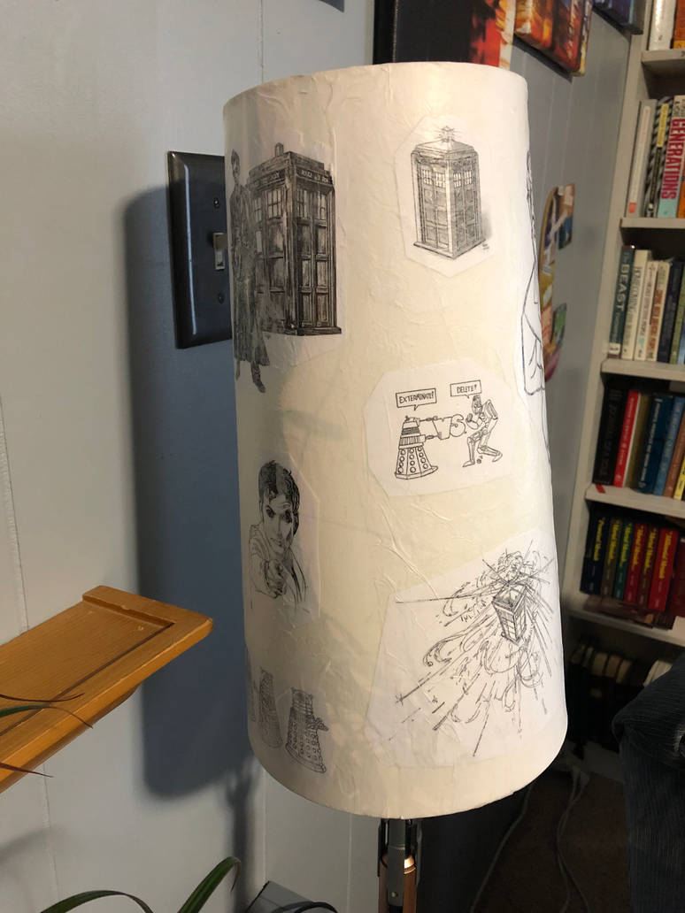 Doctor Who decoupage lampshade 03 by puente