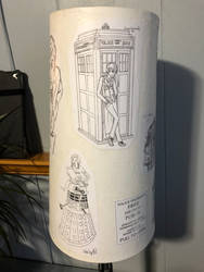 Doctor Who decoupage lampshade 04