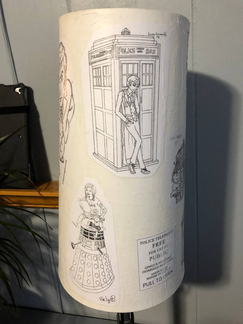 Doctor Who decoupage lampshade 04 by puente