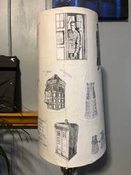 Doctor Who decoupage lampshade 05