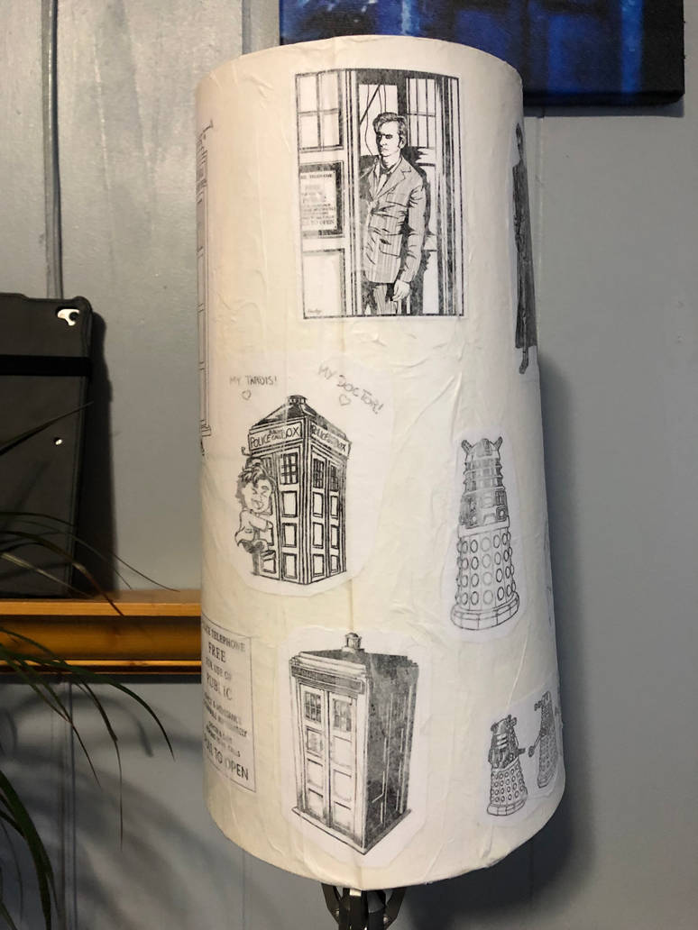 Doctor Who decoupage lampshade 05 by puente