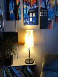 Doctor Who decoupage lampshade 06
