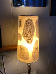 Doctor Who decoupage lampshade 07