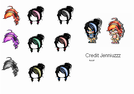 Mixed hair giveaway :] by Jenniuzzz