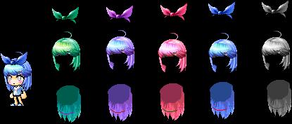 Maplestory Mix Hair by Jenniuzzz