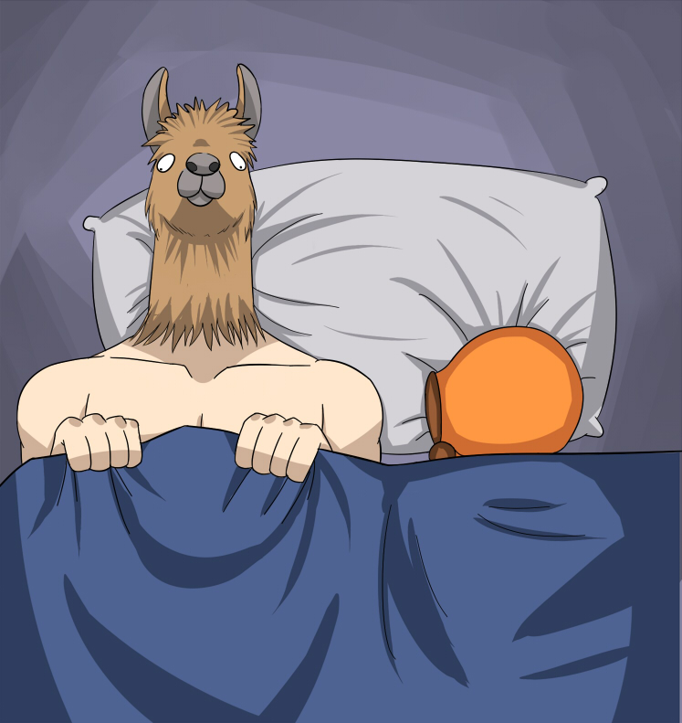 Good Morning Llama By SouthParkFantasy