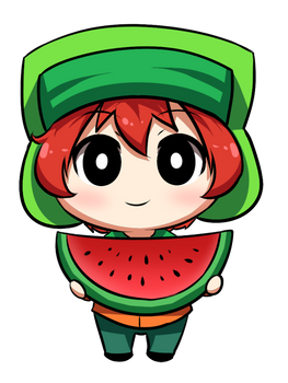 kyle and a watermelon