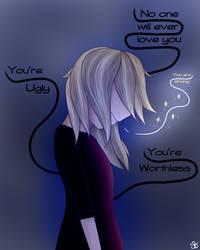 Don't listen to the voice  (Original) by DigitalPaintingWolf