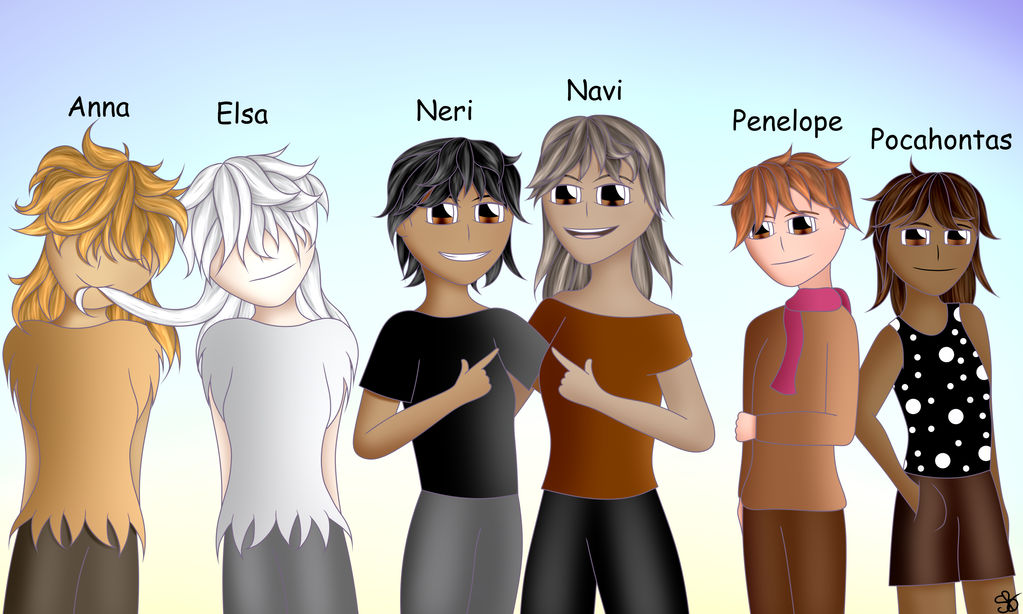 The Chick fam as humans! (Drawing Challenge) by DigitalPaintingWolf