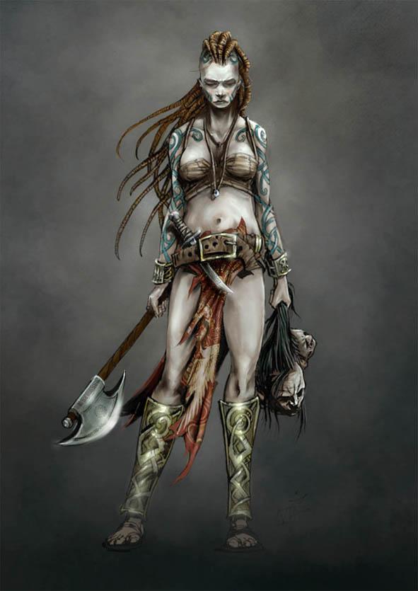 Headswoman. by paranoimiac