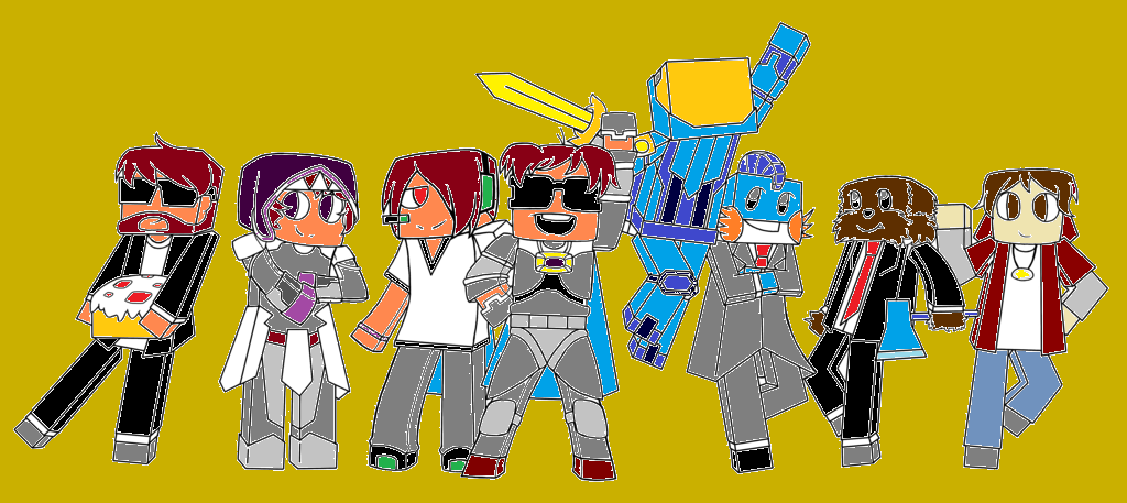team crafted (colored) by superultrabro on DeviantArt