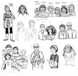 ink sketches by MissHoneyham