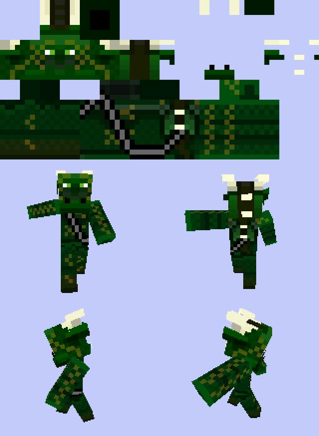 DDragon Minecraft Skin By DissonantDragon On DeviantArt - Skins minecraft para la 1 8