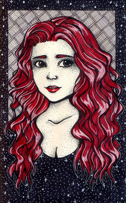 Portrait for a red-haired girl