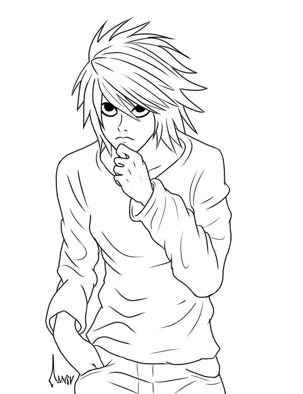deathnote coloring pages - photo#2
