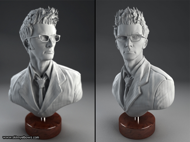 Doctor Who Bust by SkinnyElbows