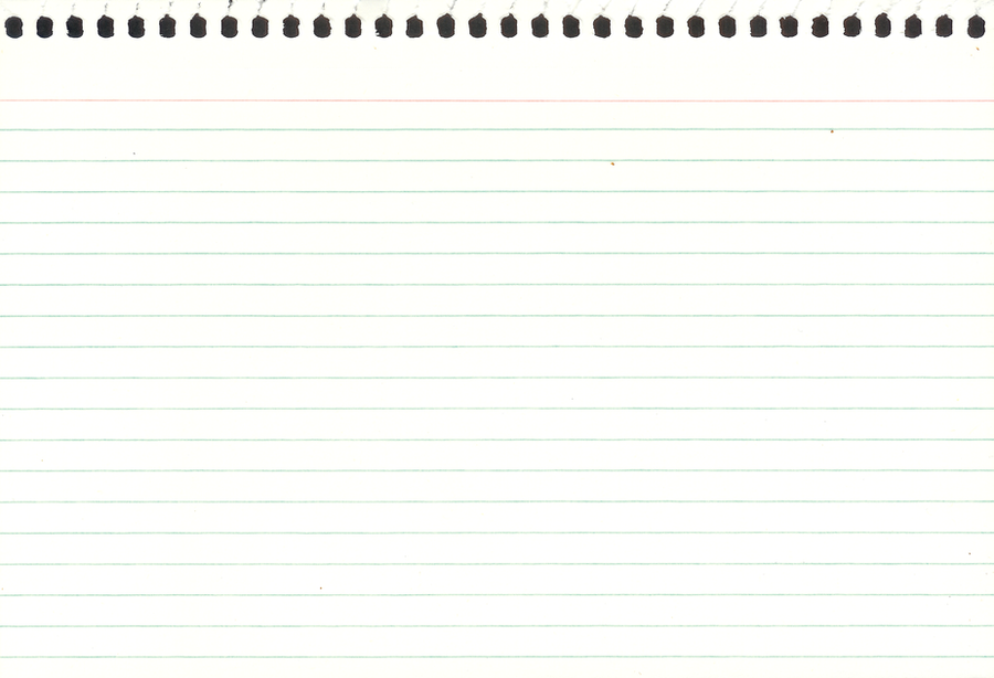 Writing A Letter On Notebook Paper