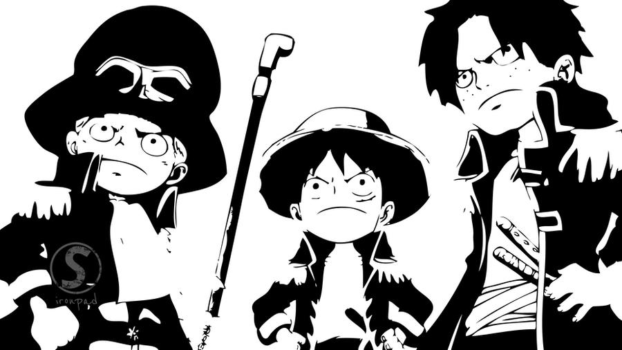 Sabo, Luffy and Ace by ironPaD
