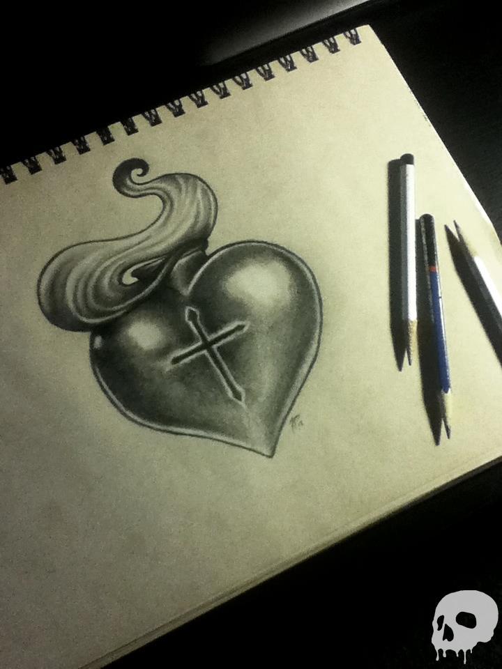 sacred heart by frankporco on deviantart. Black Bedroom Furniture Sets. Home Design Ideas